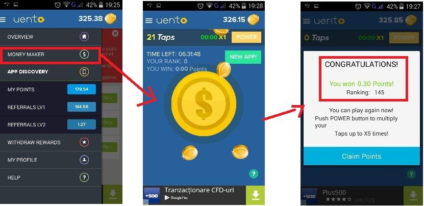 aplicația face bani