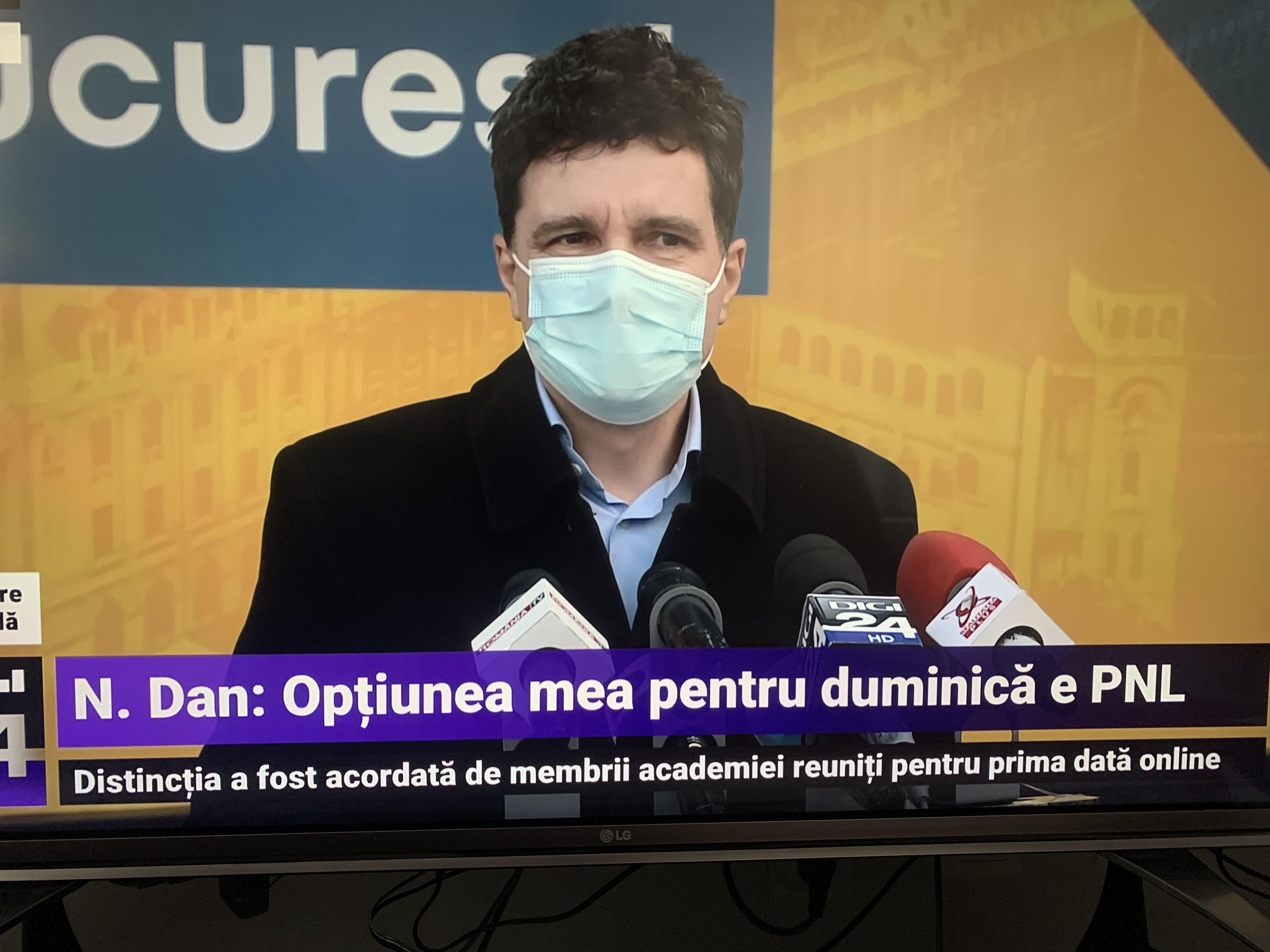 """Primarul Nicușor Dan: """"Opţiunea mea pentru votul de duminică este PNL"""""""
