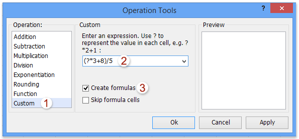 opțiunea de formulă de calcul