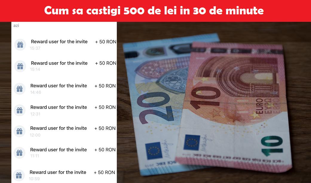 câștigați bani în 30 de minute