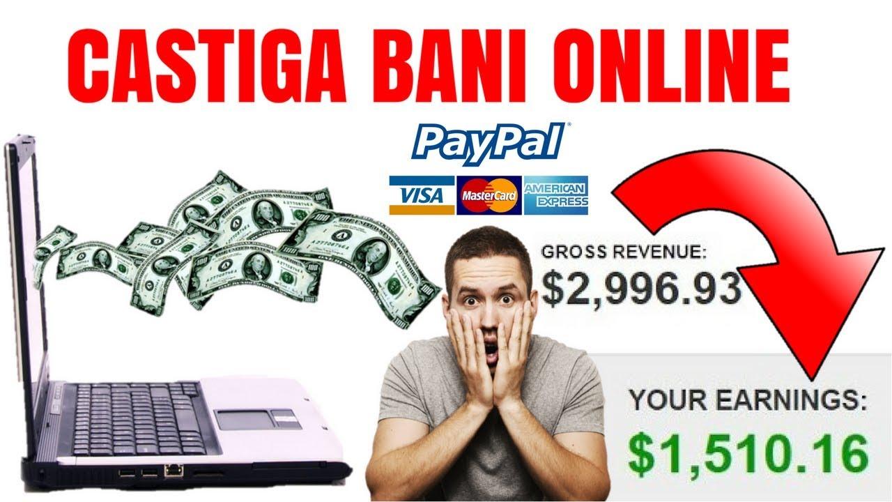 câștigând bani pe internet prin intermediul unui comerciant