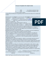 Model de pact de opţiune (de cumpărare)